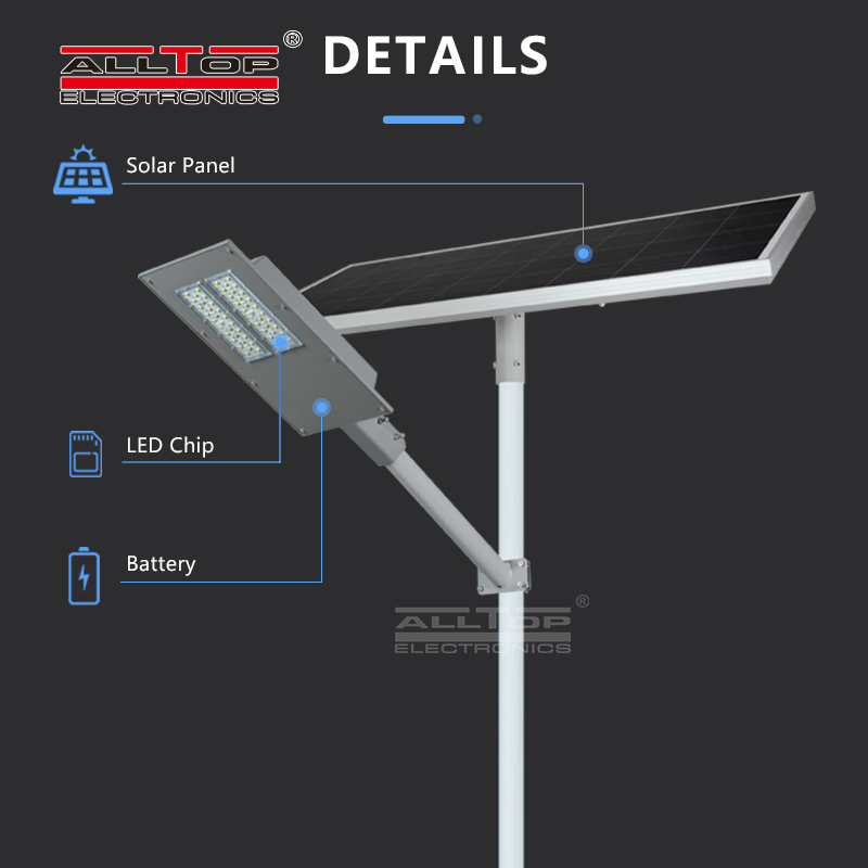 ALLTOP High Efficiency Waterproof IP65 Outdoor Lighting Smd Led Solar Streetlight